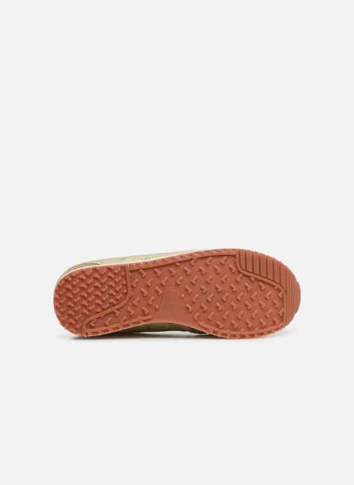 Baskets Pepe jeans Zion Remake Or et bronze vue haut