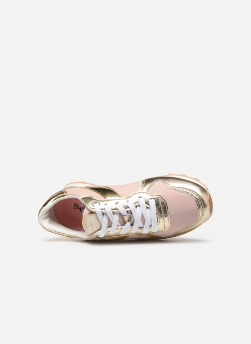 Baskets Pepe jeans Verona W Greek 2 Rose vue gauche