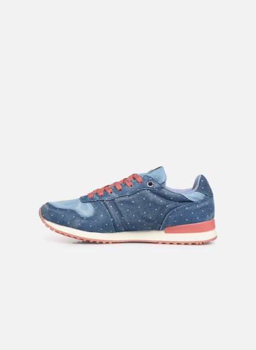 Sneakers Pepe jeans Gable Patch Dot Azzurro immagine frontale