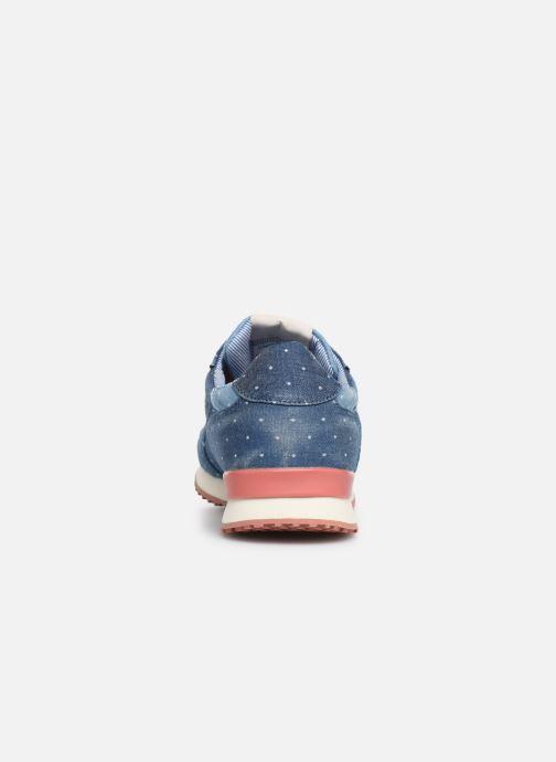 Sneaker Pepe jeans Gable Patch Dot blau ansicht von rechts