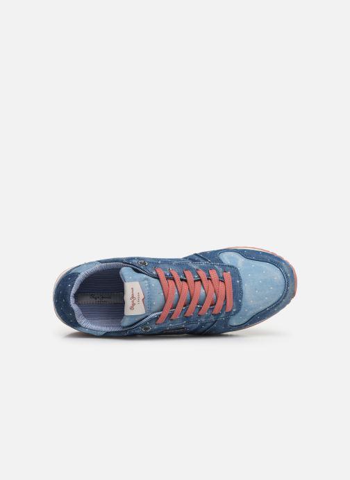 Sneaker Pepe jeans Gable Patch Dot blau ansicht von links