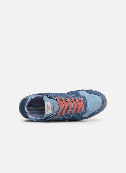 Sneaker Pepe jeans Gable Patch Dot blau ansicht von links