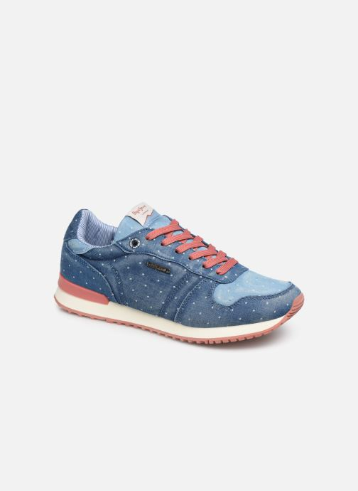 Baskets Pepe jeans Gable Patch Dot Bleu vue détail/paire