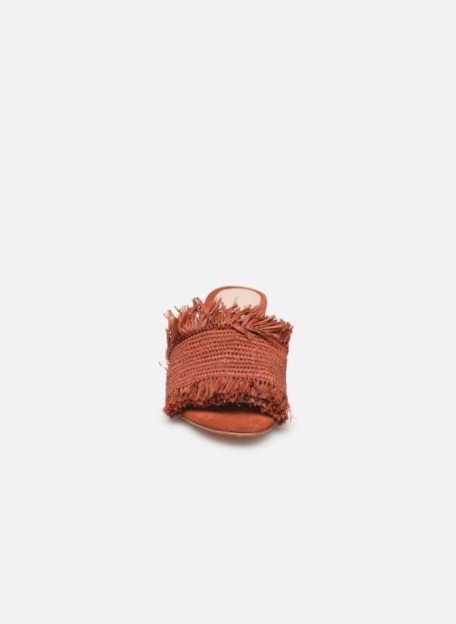 Mules et sabots Charlotte Woivré Suzette Rouge vue portées chaussures