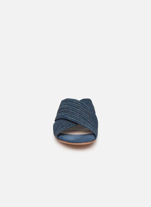Mules et sabots Charlotte Woivré Berthe Bleu vue portées chaussures