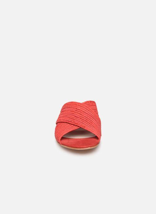 Mules et sabots Charlotte Woivré Berthe Rouge vue portées chaussures