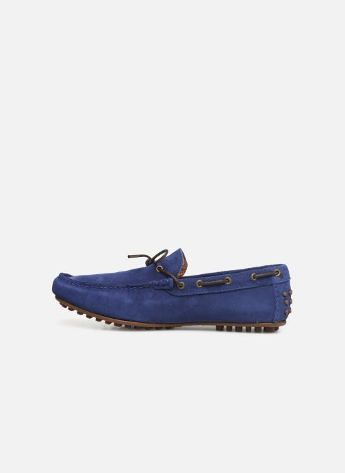 Mocassins Marvin&Co Staleys Bleu vue face