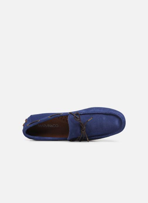 Slipper Marvin&Co Staleys blau ansicht von links