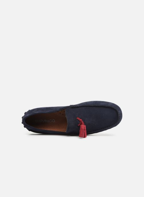 Mocasines Marvin&Co Stew Azul vista lateral izquierda