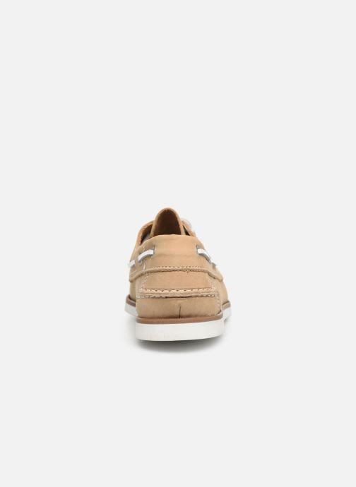 Zapatos con cordones Marvin&Co Satingh Marrón vista lateral derecha