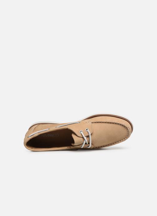 Zapatos con cordones Marvin&Co Satingh Marrón vista lateral izquierda