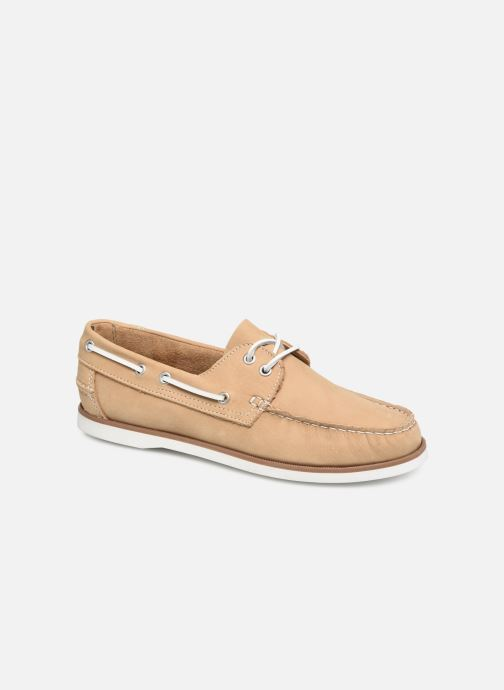Snøresko Marvin&Co Satingh Brun detaljeret billede af skoene