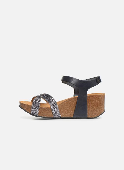 Sandales et nu-pieds Plakton So Final Gris vue face