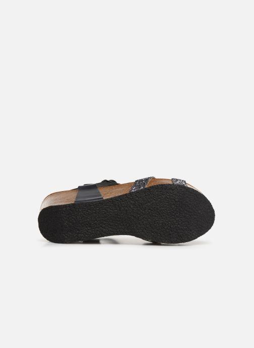 Sandales et nu-pieds Plakton So Final Gris vue haut