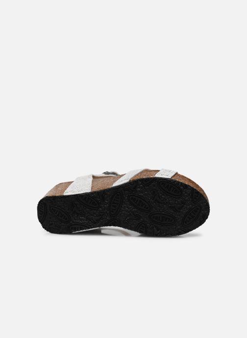 Sandales et nu-pieds Plakton So Final Blanc vue haut
