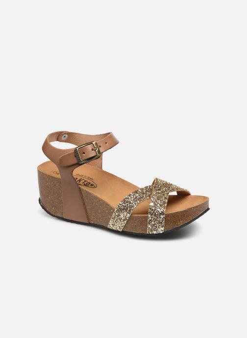 Sandales et nu-pieds Plakton So Final Or et bronze vue détail/paire