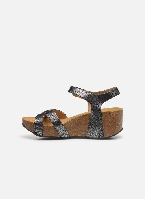 Sandales et nu-pieds Plakton So Final Noir vue face