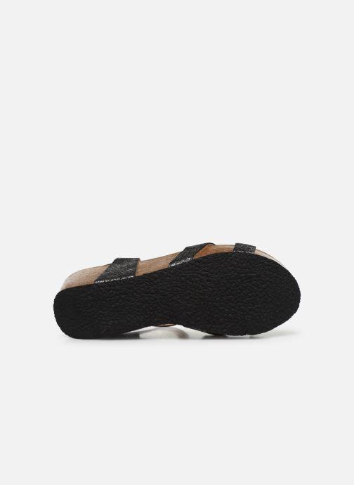 Sandales et nu-pieds Plakton So Final Noir vue haut