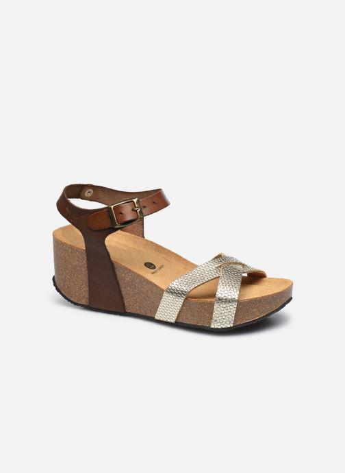 Sandales et nu-pieds Plakton So Final Marron vue détail/paire