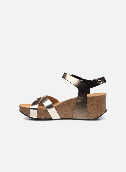 Sandales et nu-pieds Plakton So Final Argent vue face