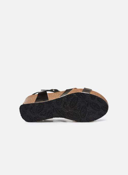 Sandales et nu-pieds Plakton So Final Argent vue haut