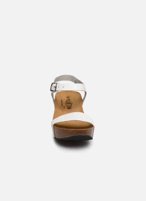 Sandales et nu-pieds Plakton So Kiss Blanc vue portées chaussures