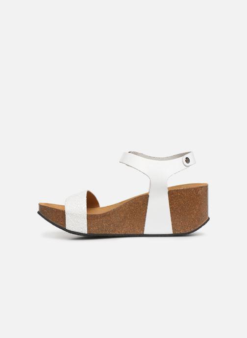 Sandales et nu-pieds Plakton So Kiss Blanc vue face