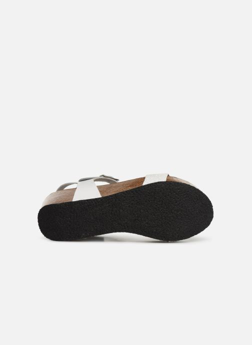 Sandales et nu-pieds Plakton So Kiss Blanc vue haut