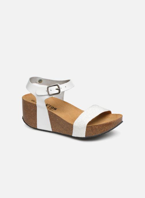 Sandales et nu-pieds Plakton So Kiss Blanc vue détail/paire
