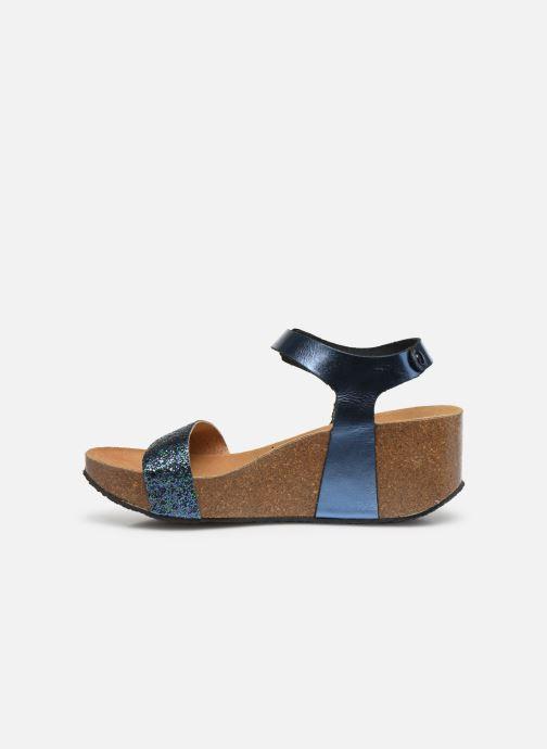 Sandales et nu-pieds Plakton So Kiss Bleu vue face