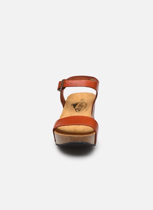 Sandales et nu-pieds Plakton So Kiss Marron vue portées chaussures