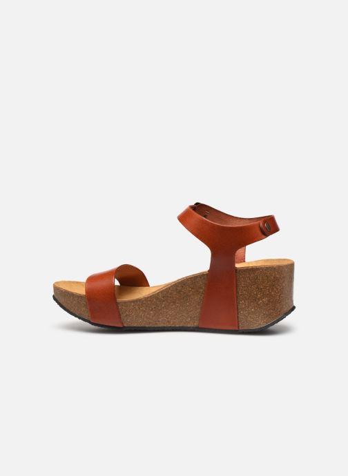 Sandales et nu-pieds Plakton So Kiss Marron vue face