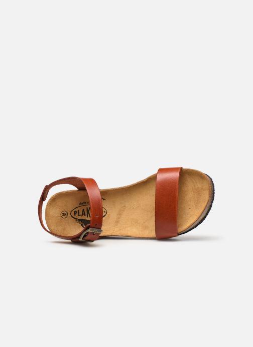 Sandales et nu-pieds Plakton So Kiss Marron vue gauche