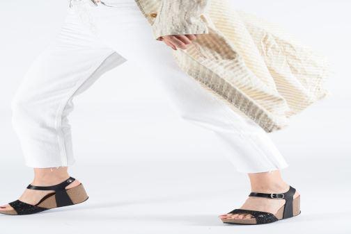 Sandales et nu-pieds Plakton I-Sound Noir vue bas / vue portée sac