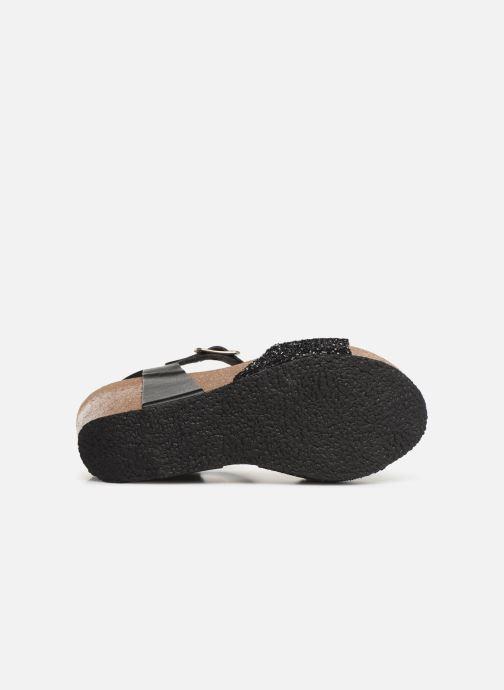 Sandales et nu-pieds Plakton I-Sound Noir vue haut