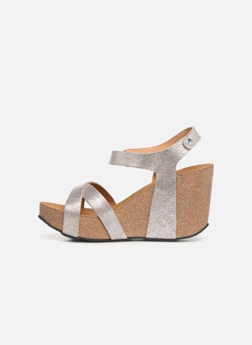 Sandales et nu-pieds Plakton I-Fine Argent vue face