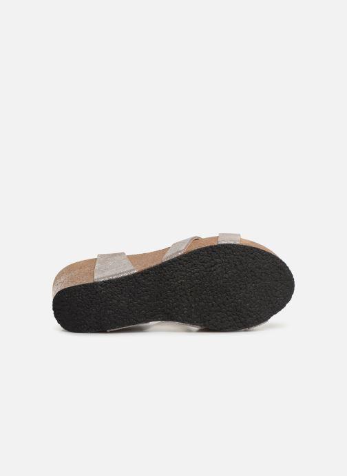 Sandales et nu-pieds Plakton I-Fine Argent vue haut
