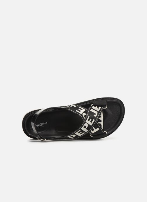 Sandals Pepe jeans Narita Folk Black view from the left