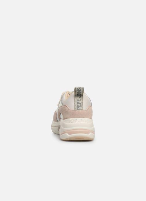 Baskets Pepe jeans Sinyu Reflect Argent vue droite