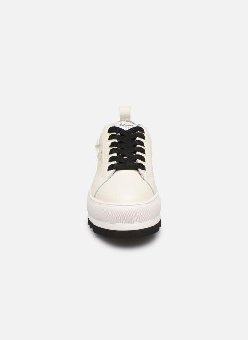 Baskets Pepe jeans Otawa Studs Blanc vue portées chaussures