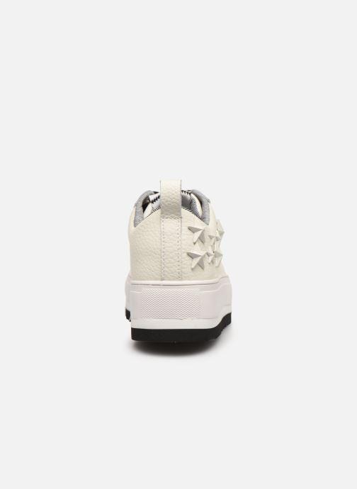 Baskets Pepe jeans Otawa Studs Blanc vue droite