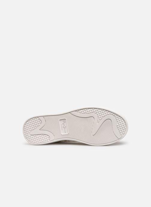 Baskets Pepe jeans Brompton Flashy Print Or et bronze vue haut