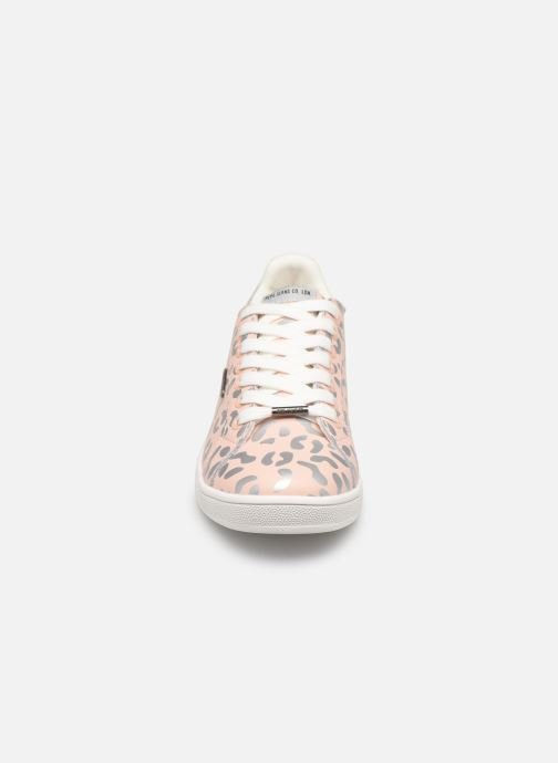 Baskets Pepe jeans Brompton Flashy Print Rose vue portées chaussures