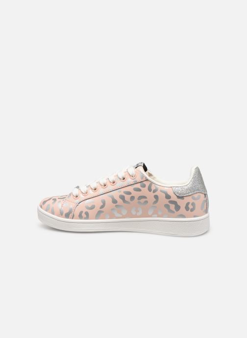 Baskets Pepe jeans Brompton Flashy Print Rose vue face