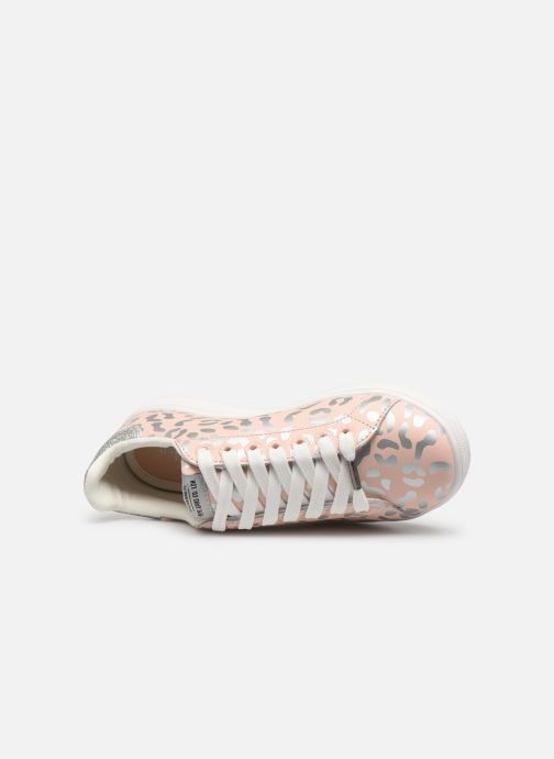 Baskets Pepe jeans Brompton Flashy Print Rose vue gauche