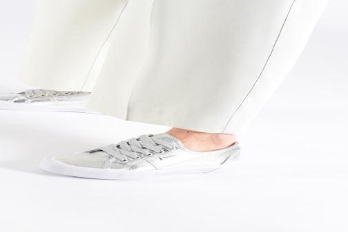 Baskets Pepe jeans Aberlady Met 18 Argent vue bas / vue portée sac