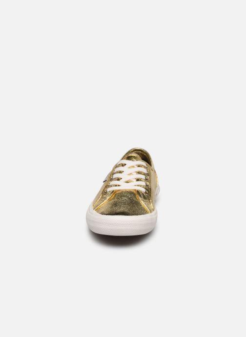 Baskets Pepe jeans Aberlady Met 18 Or et bronze vue portées chaussures