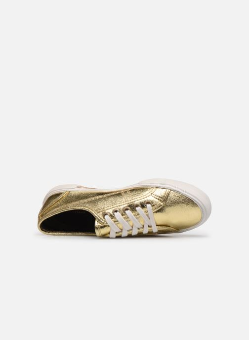 Deportivas Pepe jeans Aberlady Met 18 Oro y bronce vista lateral izquierda