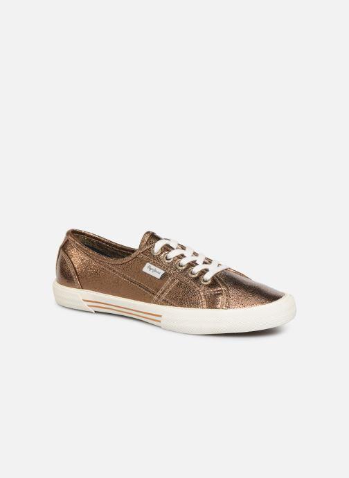 Baskets Pepe jeans Aberlady Met 18 Or et bronze vue détail/paire