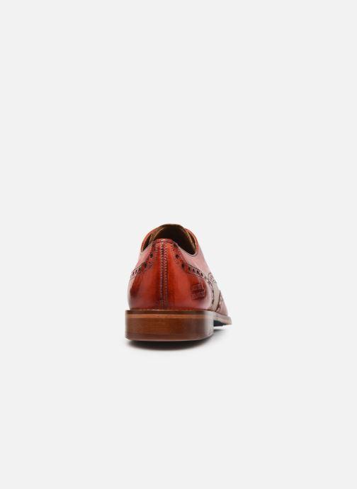 Zapatos con cordones Melvin & Hamilton Martin 15 Rojo vista lateral derecha